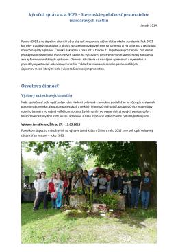 Výročná správa SCPS za rok 2013