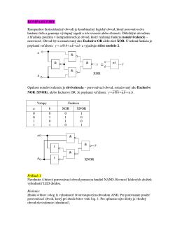 KOMPARÁTORY Komparátor (koincidenčný obvod)