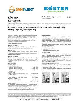 KÖSTER KD-System