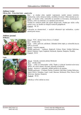 aktuálna ponuka - Záhrada