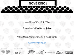 Nove kino SK 15.4.2014