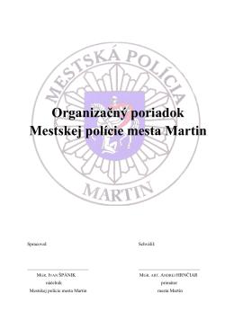 organizačný poriadok MsP - Polícia Martin