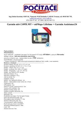 Garmin nüvi 2495LMT + nüMaps Lifetime + Garmin - Soft-K