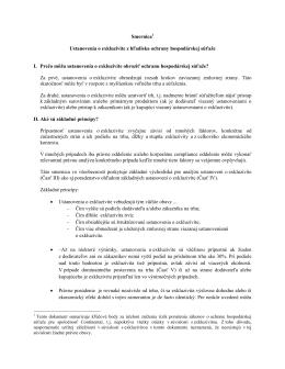 Smernica1 Ustanovenia o exkluzivite z hľadiska ochrany