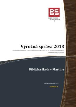 Výročná správa 2013 - Centrum kresťanského vzdelávania