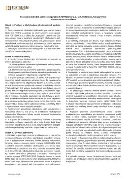 strana 1/5 Všeobecné obchodné podmienky spoločnosti
