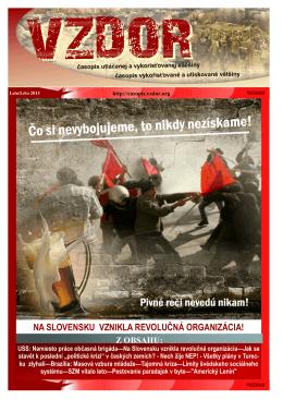 na slovensku vznikla revolučná organizácia! - Časopis