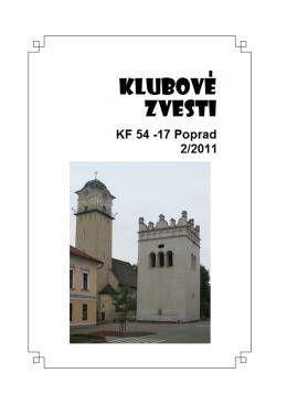 Klubové zvesti 2/2011 - Klub filatelistov 54