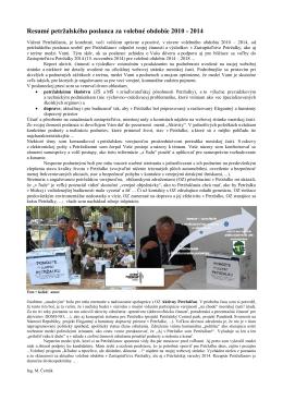 Resumé za 2010 – 2014 - Ing. Miloš Černák poslanec Miestneho