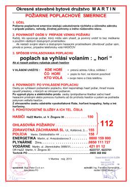 Poziar_smernica - Okresné stavebné bytové družstvo Martin