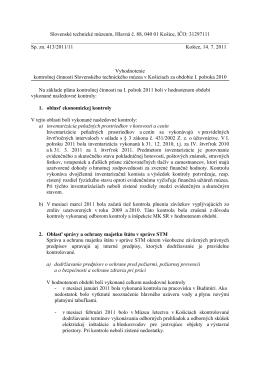 Vyhodnotenie - Slovenské technické múzeum