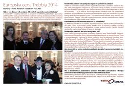 Európska cena Trebbia 2014