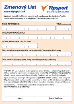Zmenový list (PDF)