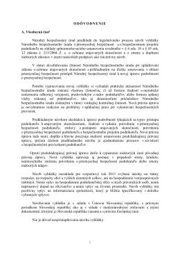 Odôvodnenie k vyhláške Národného bezpečnostného úradu č. 301
