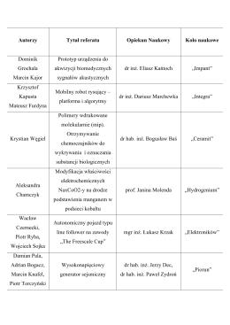 Stanisław Sławiński - Krajowe Ramy Kwalifikacji