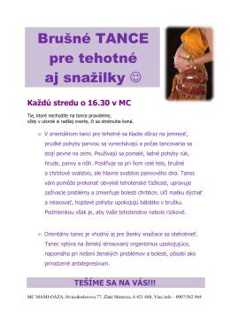 Brušné TANCE pre tehotné aj snažilky