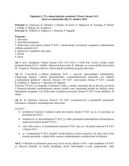 Výbor Snemu SAV č. 25