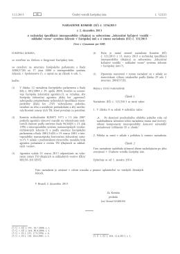 Nariadenie Komisie (EÚ) č. 1236/2013 z 2. decembra 2013 o