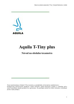 Aquila T-Tiny plus Návod na obsluhu taxametra