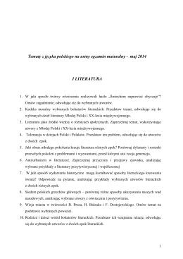 Tematy j.polski - Zespół Szkół Ogólnokształcących w Wolsztynie
