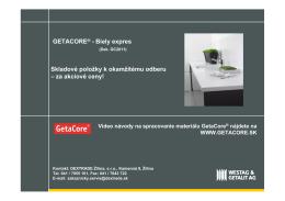GETACORE® - Biely expres