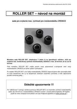 ROLLER SET – návod na montáž - Elektrobicykle e