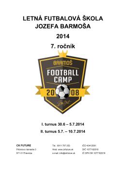 Letná futbalová škola J. Barmoša