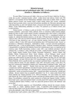 História farnosti vo Fačkove