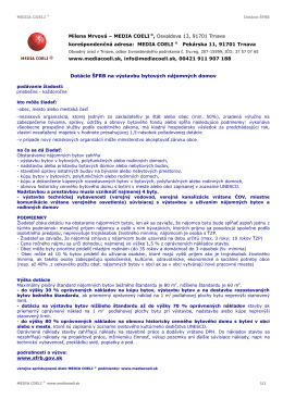 MEDIA COELI ® Dotácie ŠFRB na výstavbu