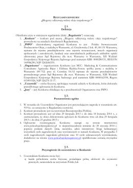 "REGULAMIN KONKURSU ""WKRĘCENI 2"" 1"