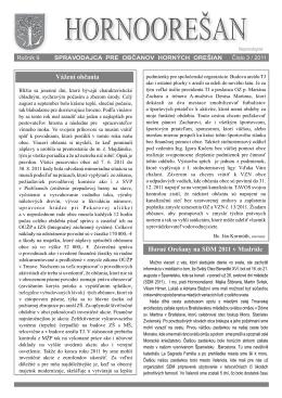 Hornoorešan - číslo 3/2011