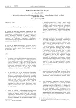 Nariadenie Komisie (EÚ) č. 1158/2010 z 9. decembra 2010 o