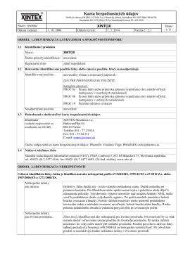 Karta bezpečnostných údajov