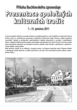 Buchlovský zpravodaj - PŘÍLOHA II. - prosinec 2011