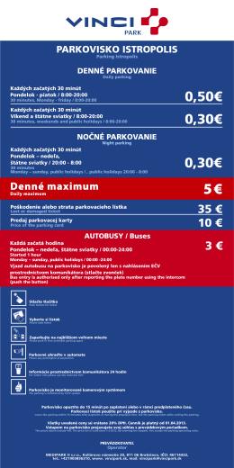 cenník pre parking Istropolis (PDF, 52kb)