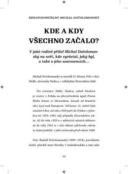 Nenapodobitelný Michal Dočolomanský