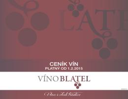 Aktuální ceník vín
