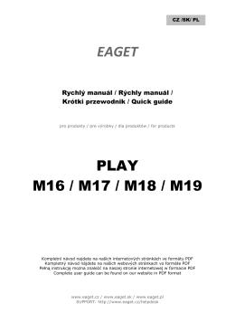 PLAY M16 / M17 / M18 / M19
