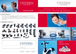 Zdravotnotechnický inštalačný systém - Prospekt