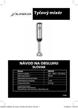 Tyčový mixér NÁVOD NA OBSLUHU - Superior