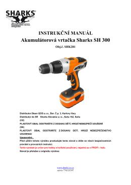 Manual Cordless drill SH 300