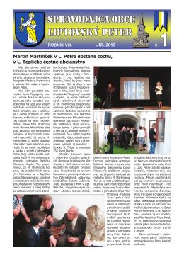 júl 2013 - Liptovský Peter