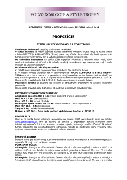 PROPOZÍCIE - teetimeagency.sk