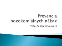 Prevencia nozokomiálnych nákaz