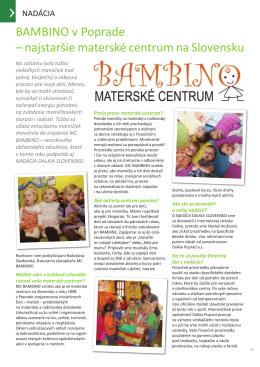 Materské centrum Bambino, Poprad