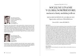 sociálne uznanie v globálnom priestore