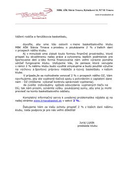 List - Slávia Trnava Basketbal