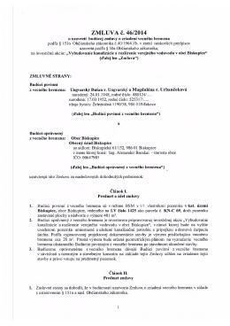 ZMLUVA č. 46/2014