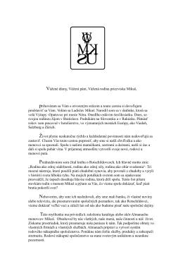 List Mikušovcom - donautex