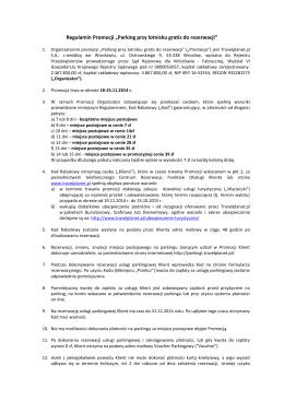 Regulamin korzystania z lotniska modelarskiego Lotniczego